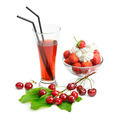 fruit dessert and cherry juice - PhotoDune Item for Sale