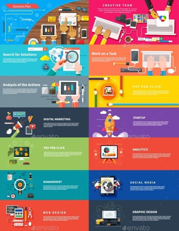 GraphicRiver Management Digital Marketing Startup Planning Seo 10872174