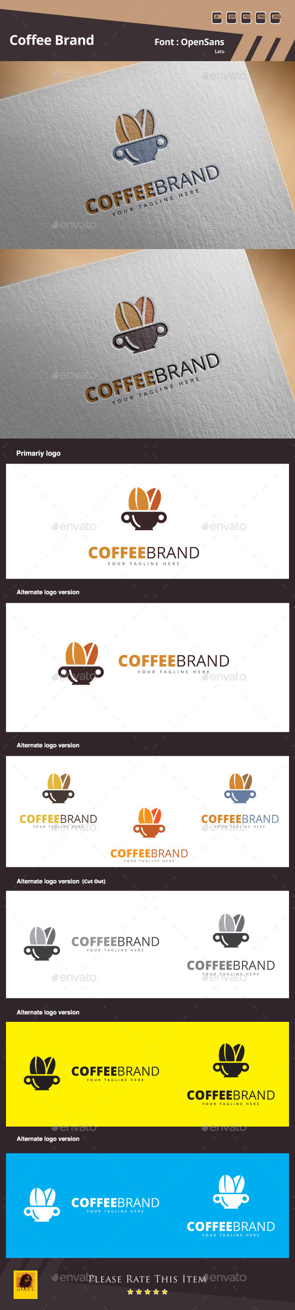 GraphicRiver Coffee Brand Logo Template 10872238