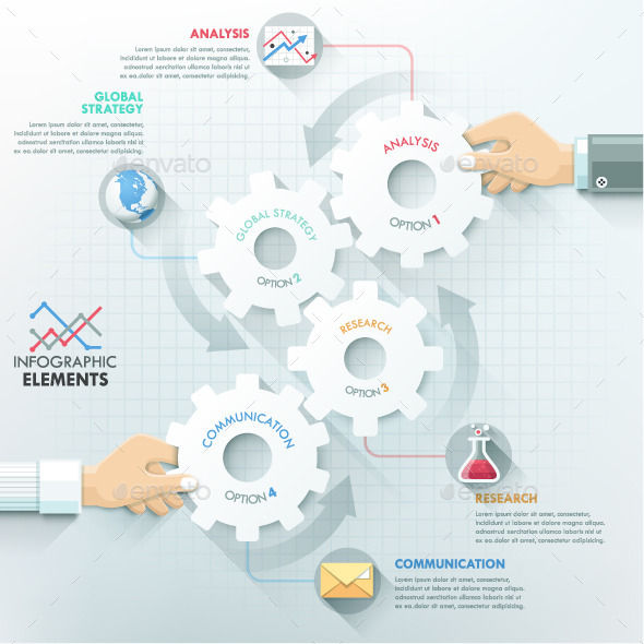 GraphicRiver Business Hands Teamwork Infographics 10872412