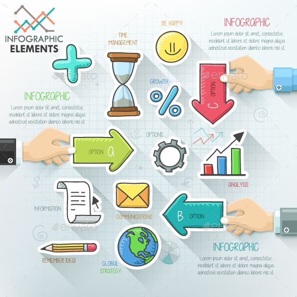 GraphicRiver Business Hands Teamwork Infographics 10872527