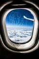 Frost on the Airplane glass window. - PhotoDune Item for Sale