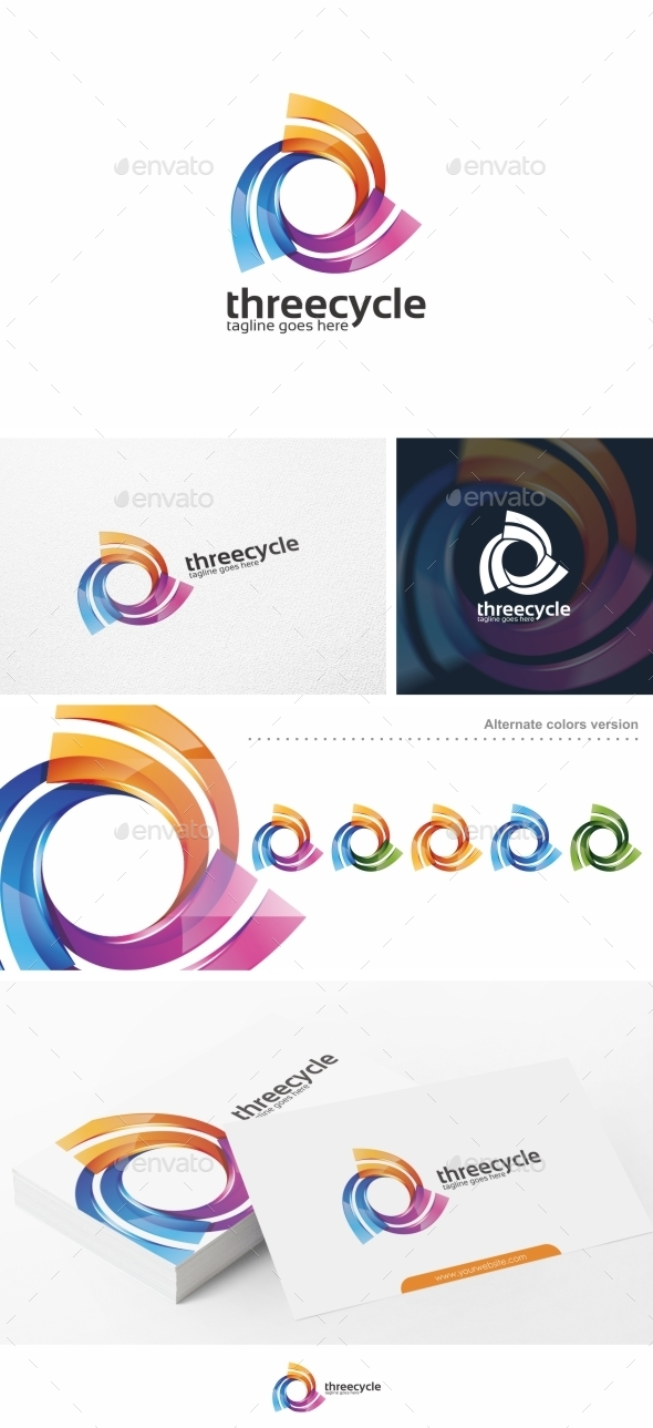 GraphicRiver Three Cycle Spiral Logo Template 10872748