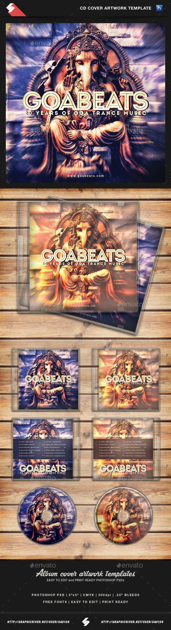 GraphicRiver Goa Beats Psytrance Album CD Cover Template 10872957