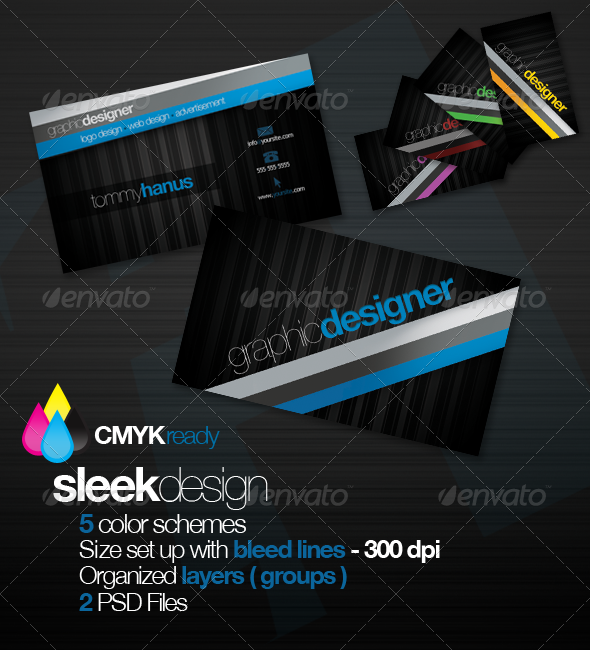 GraphicRiver Sleek Design Business Card 135206