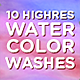 10 High Resolution Watercolor Wash Textures