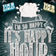 Happy Hour Chalkboard Indie Template PSD - GraphicRiver Item for Sale