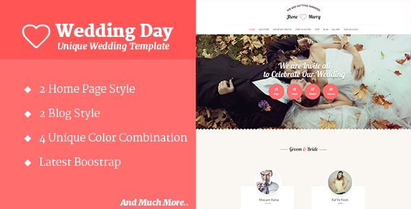 ThemeForest Wedding Day Wedding HTML Template 10873238