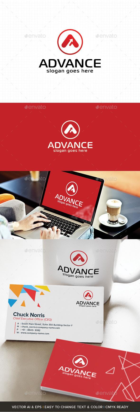 GraphicRiver A Letter Logo Advance 10859222