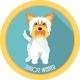 Medal Yorkshire Terrier Junior Winner Dog  - GraphicRiver Item for Sale