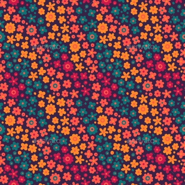 GraphicRiver Flowers Pattern 10873356