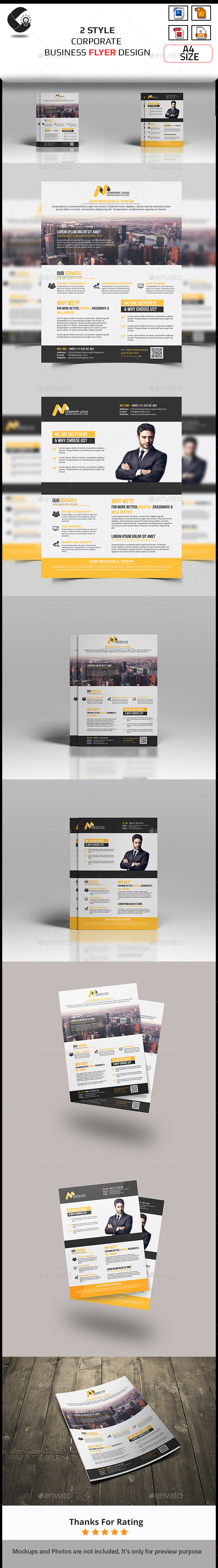 GraphicRiver Corporate Flyer-2 Style 10873374