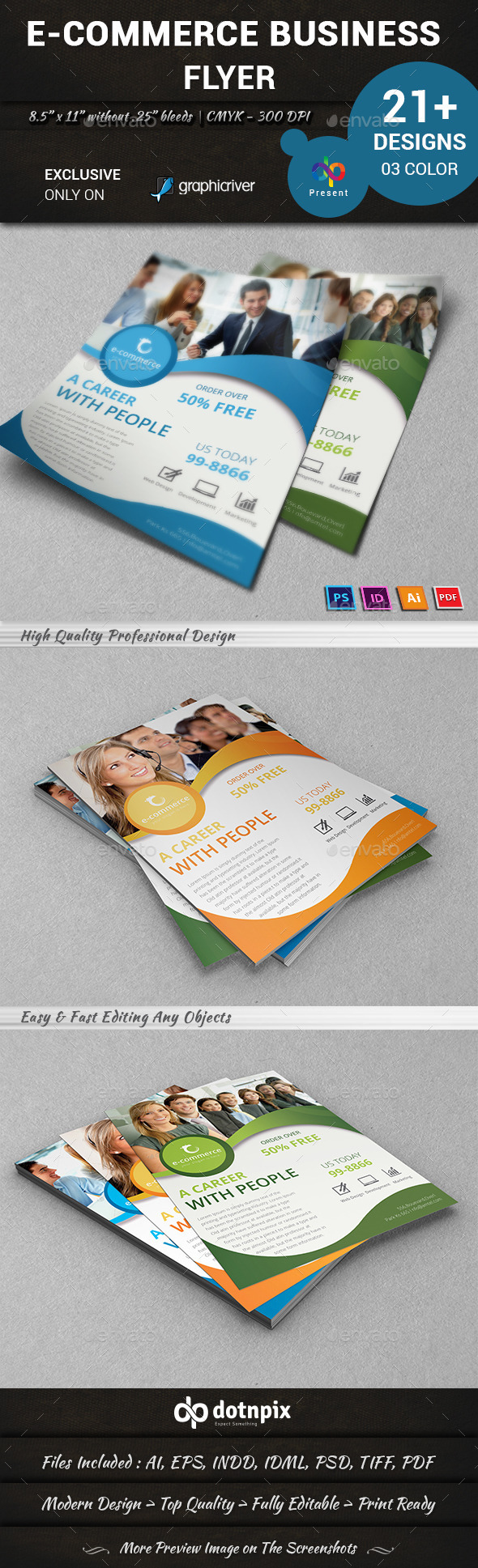GraphicRiver E-Commerce Business Flyer 10873467