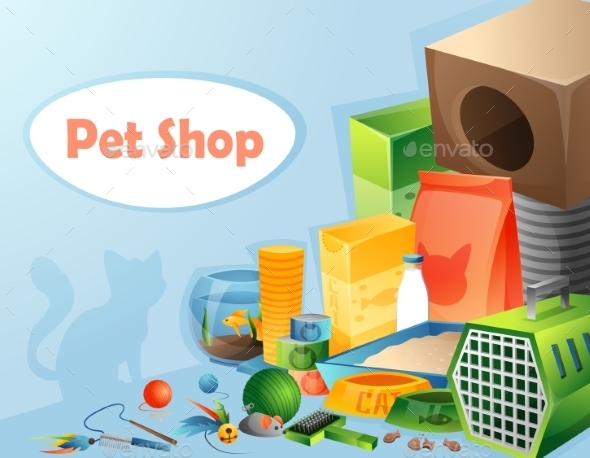 GraphicRiver Pet Shop Concept 10873508