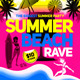 Summer Beach Rave Flyer Template - GraphicRiver Item for Sale