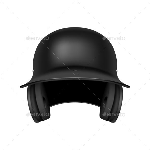 GraphicRiver Baseball Black Helmet 10873562