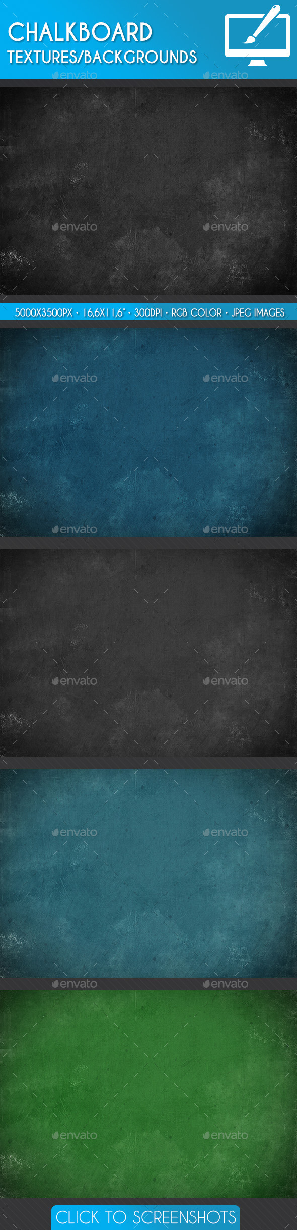 GraphicRiver Chalkboard Textures Backgrounds 10873675
