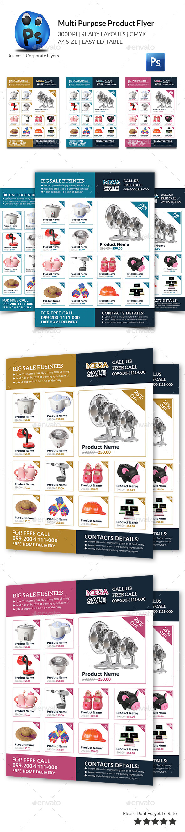 GraphicRiver Product Promotion Flyer Print Templates 10873757