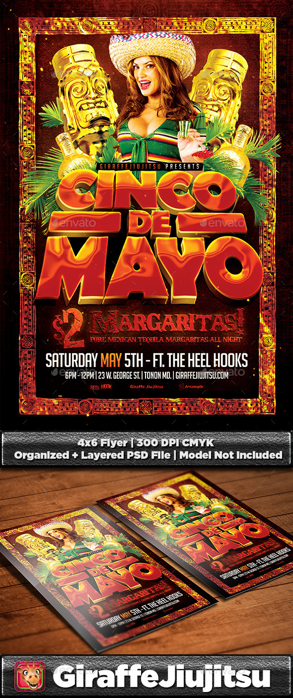 GraphicRiver Cinco De Mayo Flyer Template 10873761
