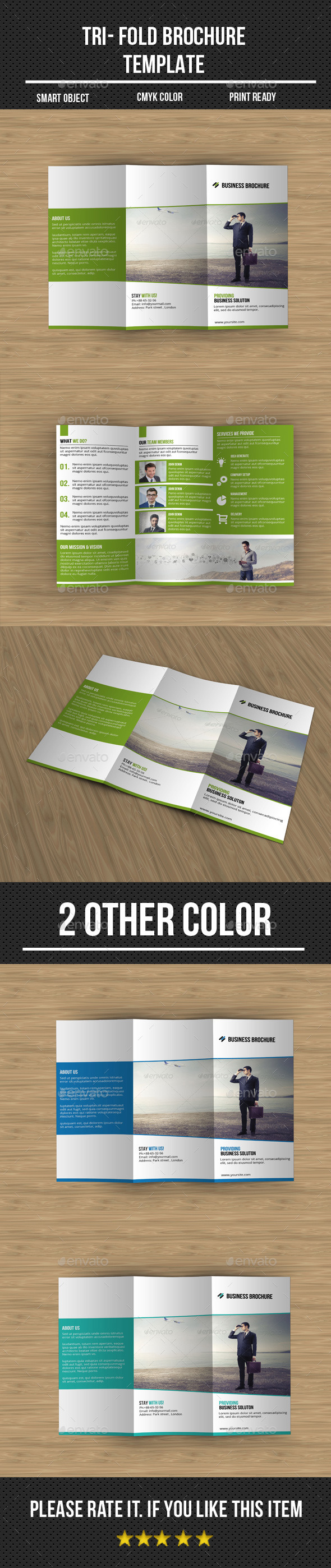GraphicRiver Tri Fold Corporate Brochure 10873909