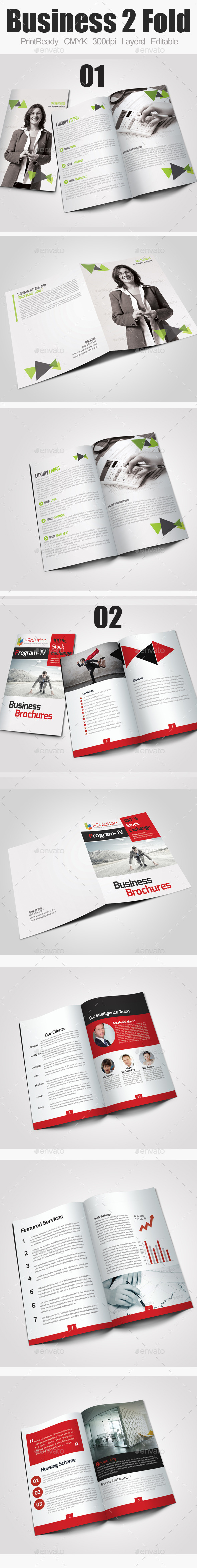 GraphicRiver Bi Fold Business Catalog Brochure Bundle 10874024