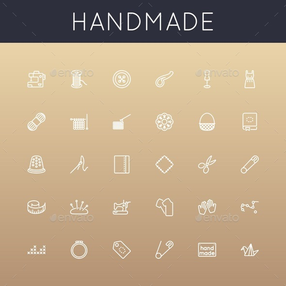 GraphicRiver Vector Handmade Line Icons 10874032