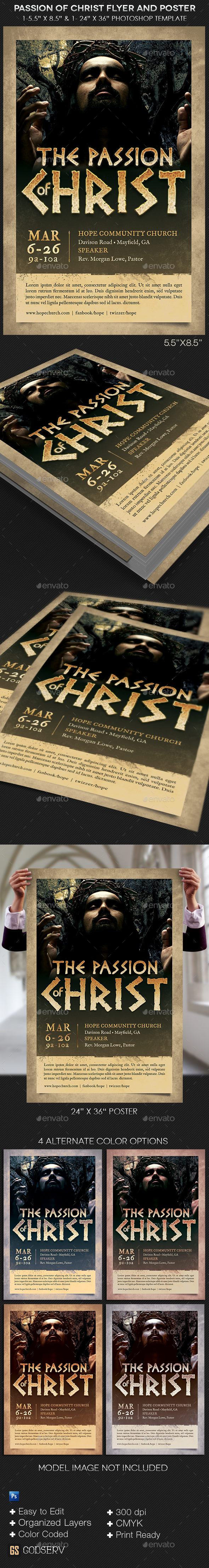 GraphicRiver Passion of Christ Flyer and Poster Template 10874658