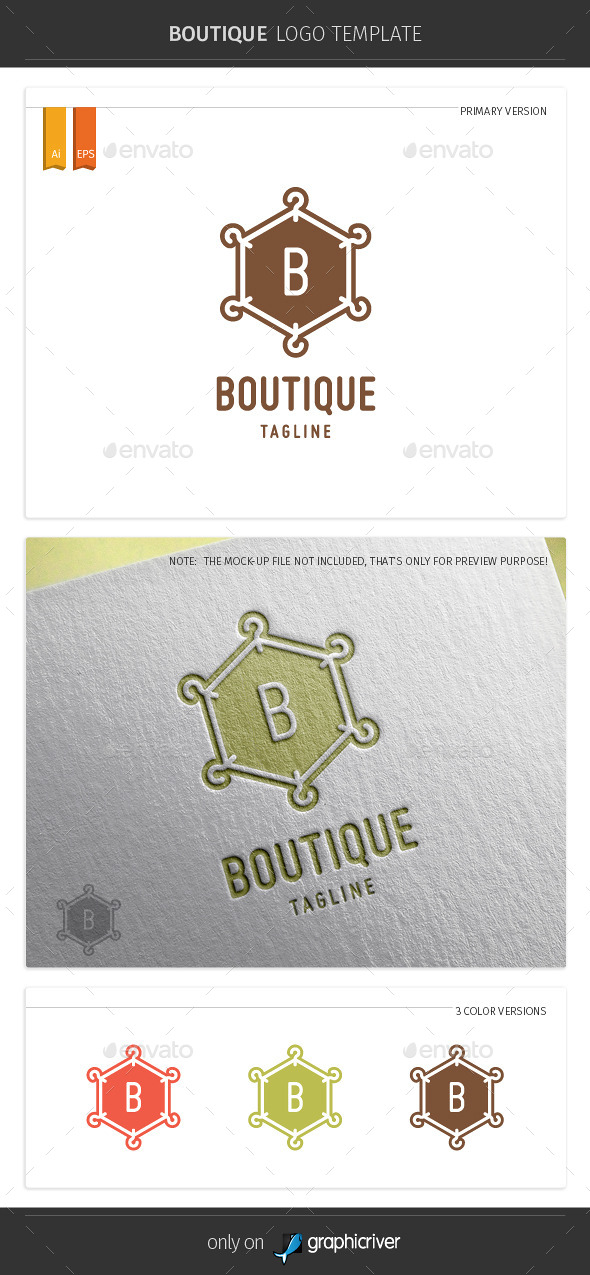 GraphicRiver Boutique Logo Template 10875044