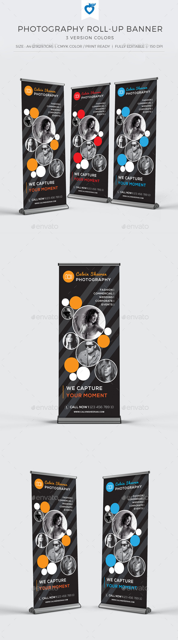 GraphicRiver Photography Roll-up Banner 10875092