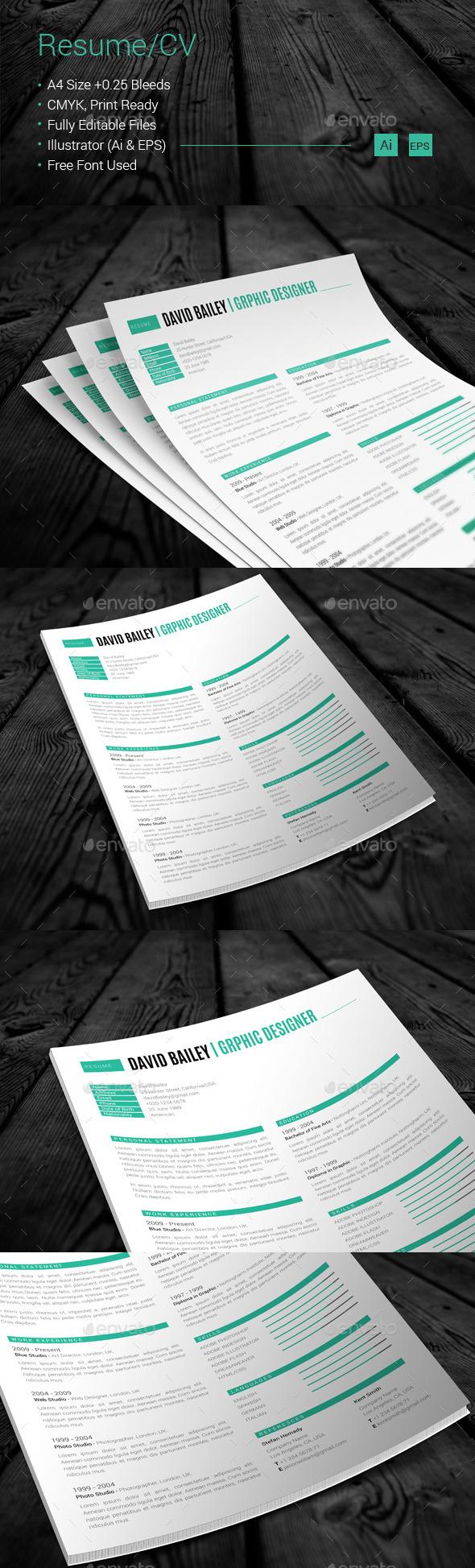 GraphicRiver Resume CV 10875137