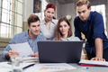 Young business team analysing company data - PhotoDune Item for Sale