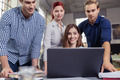Young business team brainstorming together - PhotoDune Item for Sale