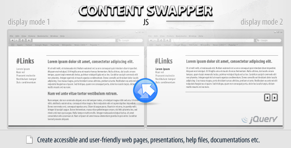 Content Swapper (jQuery) - CodeCanyon Item for Sale
