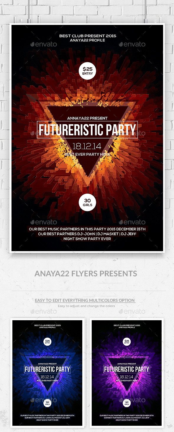 GraphicRiver Abstract Future Flyer Psd Templates 10875605