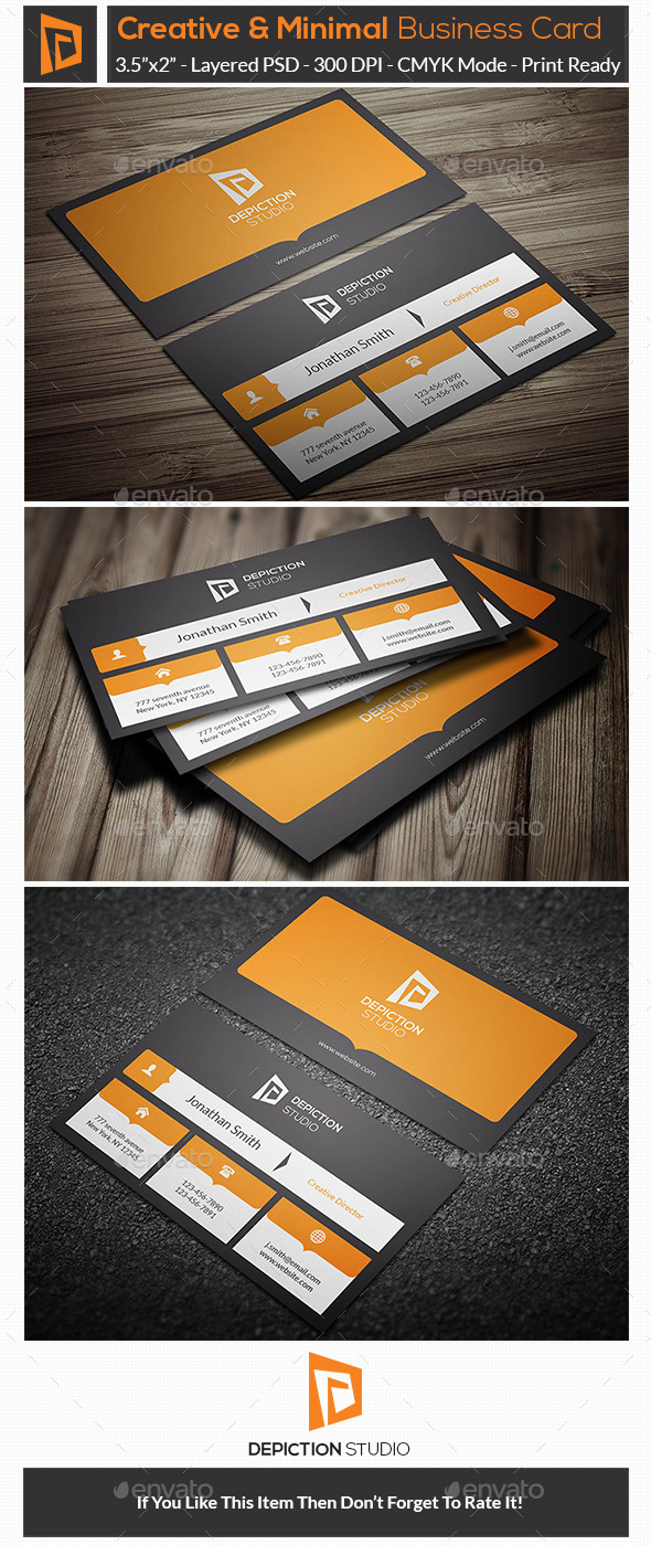 GraphicRiver Creative & Minimal Business Card 10875713