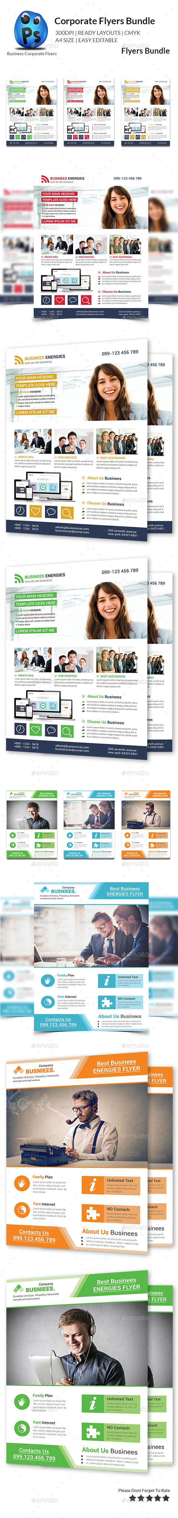 GraphicRiver Corporate Business Flyer Bundle 10875763