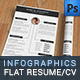 2-Pages Flat Infographics Resume/CV Set - GraphicRiver Item for Sale
