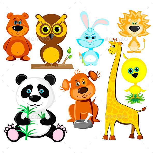 GraphicRiver Cartoon Animals Set 10875911