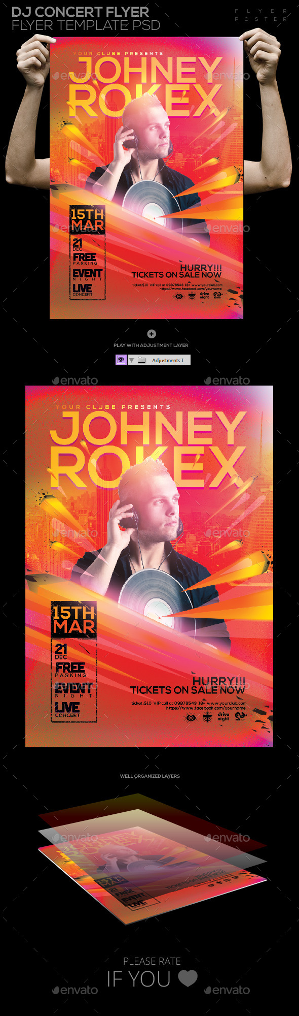 GraphicRiver Dj Concert Flyer Template PSD 10875915