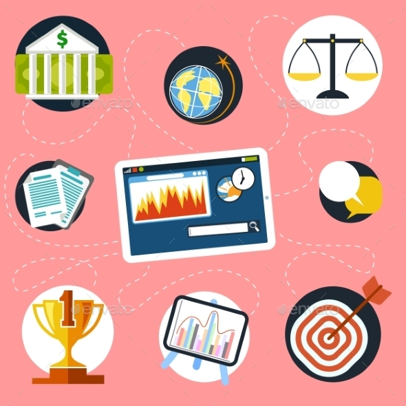 GraphicRiver Finance and Analysis Icons 10875919