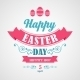 Happy Easter Typographical Background - GraphicRiver Item for Sale