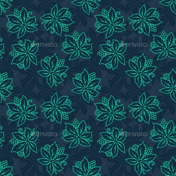 GraphicRiver Abstract Retro Seamless Grapes Pattern 10876102