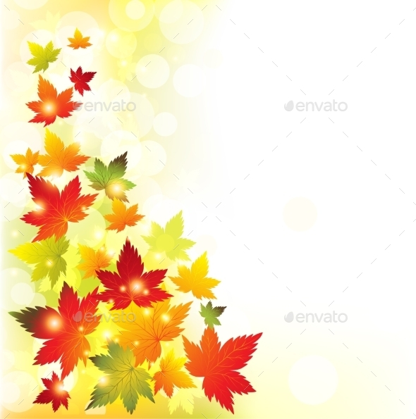 GraphicRiver Autumn Leaves Background 10876243