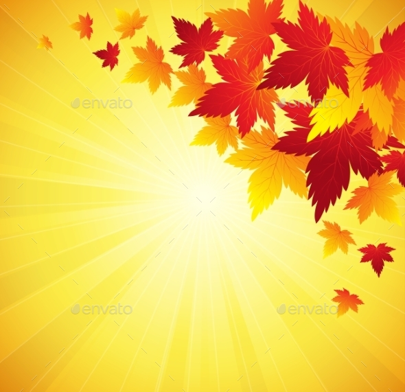 GraphicRiver Autumn Leaves Background 10876250