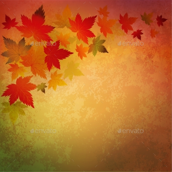 GraphicRiver Abstract Autumn Vintage Background 10876350
