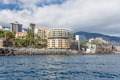 Seascape coastline Madeira with several modern Hotels of Funchal - PhotoDune Item for Sale