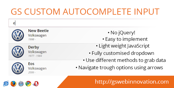 CodeCanyon GS Custom Autocomplete Input 10876621