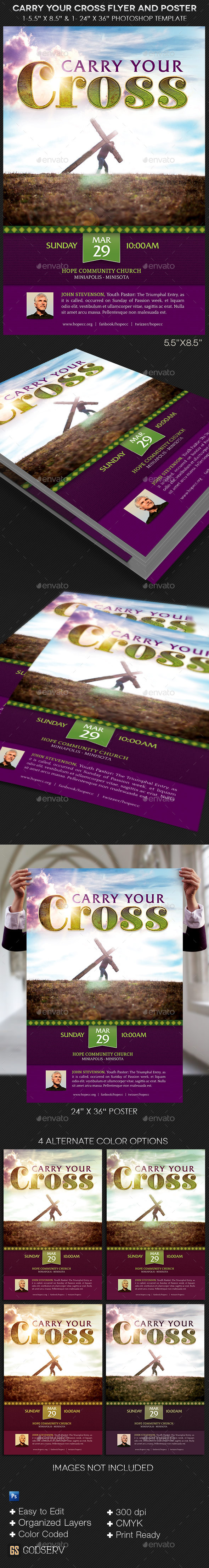 GraphicRiver Carry Your Cross Flyer and Poster Template 10876950