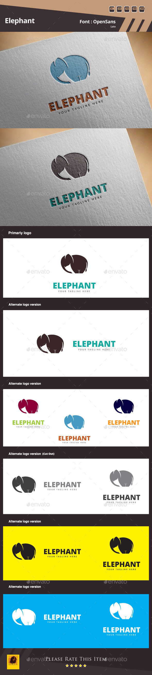 GraphicRiver Elephant Logo Template 10877071