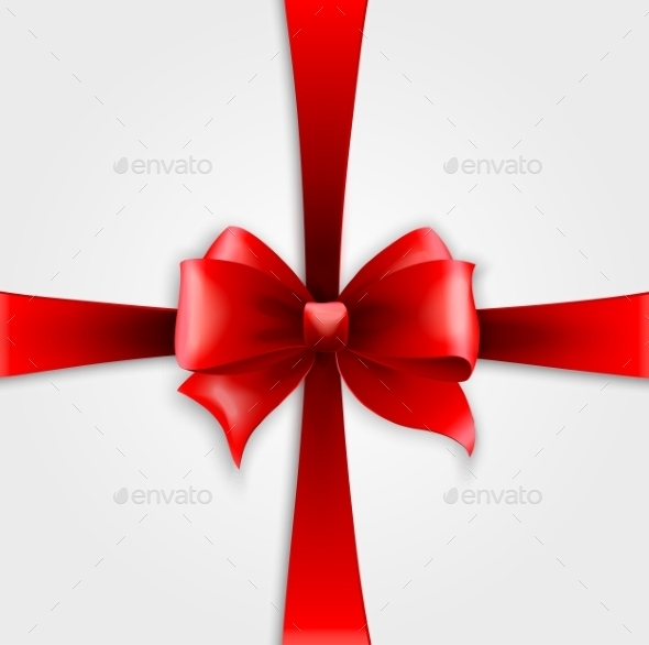 GraphicRiver Invitation Card with Red Holiday Ribbon and Bow 10877206